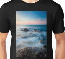 Waves and rocks long exposure Unisex T-Shirt