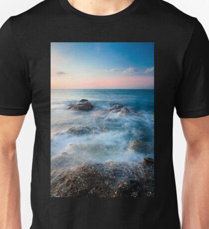 Waves and rocks long exposure Unisex T-Shirt