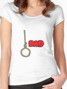 cartoon noose Women's Fitted Scoop T-Shirt