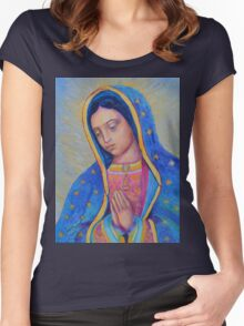 Our Lady of Guadalupe for sale, Vergin de Guadalupe, Virgin Mary Madonna Women's Fitted Scoop T-Shirt