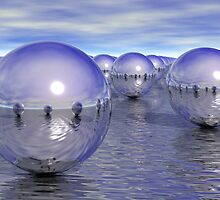 Spheres On The Water by Phil Perkins