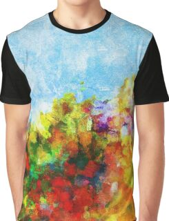 Colorful Floral Abstract Art  Graphic T-Shirt