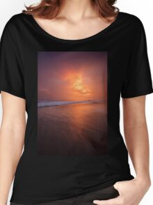 Sunset clouds and long wave Women's Relaxed Fit T-Shirt