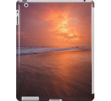 Sunset clouds and long wave iPad Case/Skin