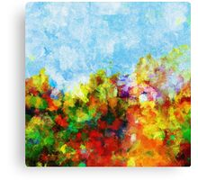 Colorful Floral Abstract Art  Canvas Print