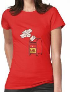 cartoon mail box Womens Fitted T-Shirt