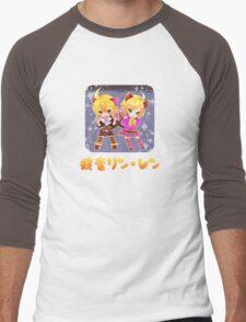 Chibi Kagamine Cats Men's Baseball ¾ T-Shirt