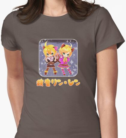 Chibi Kagamine Cats Womens Fitted T-Shirt
