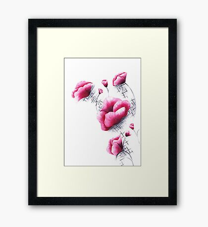 Abstract Florals Framed Print