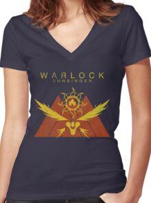 Destiny Warlock SunSinger Vintage t shirt Women's Fitted V-Neck T-Shirt