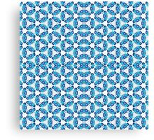 Blue tiled abstract artistic fashion print Canvas Print