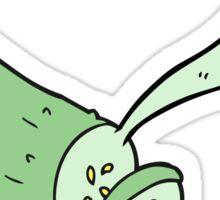 cartoon sliced cucumber Sticker