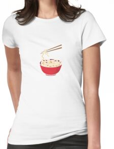 Time to eat Noodle Womens Fitted T-Shirt