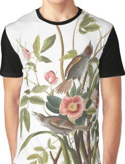 Seaside Sparrow - John James Audubon Graphic T-Shirt