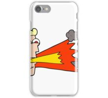 cartoon shouting man iPhone Case/Skin