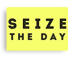 Seize the Day (Inline Black) Canvas Print