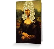 Blonde Mona Lisa  Greeting Card