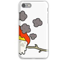 cartoon burning marshmallow iPhone Case/Skin