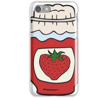 cartoon jar of strawberry jam iPhone Case/Skin