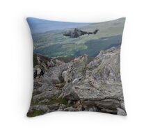 Millitary Helicopter Excersises Throw Pillow