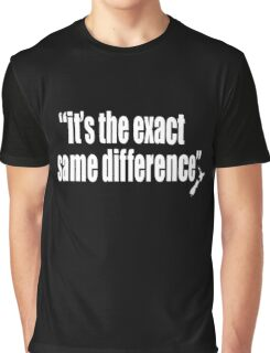 It's the exact same difference Graphic T-Shirt