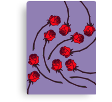 Rose - Lilac/Red Canvas Print