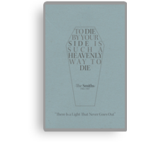"""To Die By Your Side"" Lyric Poster Canvas Print"