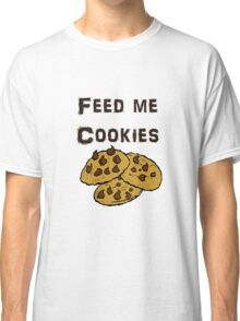 Iskybibblle Products / Feed me Cookies/ Black Classic T-Shirt