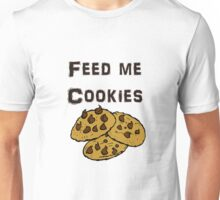 Iskybibblle Products / Feed me Cookies/ Black Unisex T-Shirt