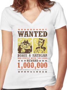 Wanted - Boris & Natasha Women's Fitted V-Neck T-Shirt
