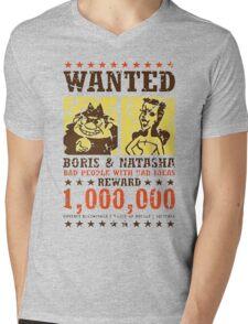 Wanted - Boris & Natasha Mens V-Neck T-Shirt