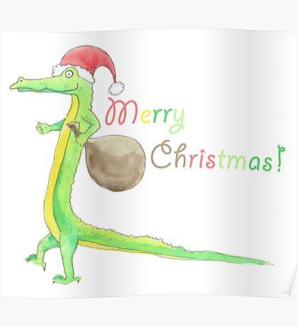 Christmas Crocodile Poster