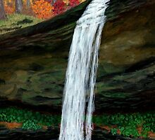 Forest Falls in Autumn by M Rogers