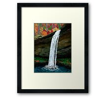 Forest Falls in Autumn Framed Print