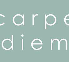 Carpe Diem (Sans Serif White) by dontchasesheep