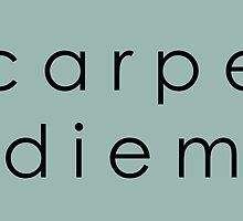 Carpe Diem (Sans Serif Black) by dontchasesheep