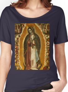 Our Lady of Guadalupe, Virgin Mary, Blessed Mother Women's Relaxed Fit T-Shirt