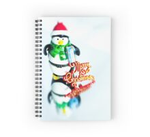 Penguin Christmas Spiral Notebook