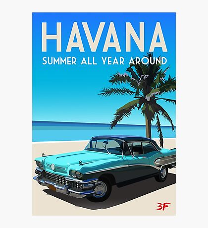 Havana, Cuba - Summer all year around Photographic Print