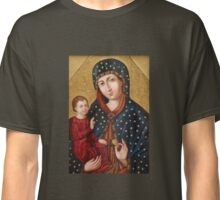 Polish Virgin Mary Poster, Madonna and Child Jesus, Holy icon, Catholic art Classic T-Shirt