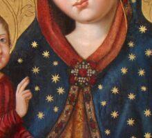 Polish Virgin Mary Poster, Madonna and Child Jesus, Holy icon, Catholic art Sticker