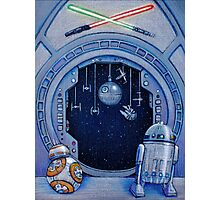 StarWars Christmas Door Photographic Print