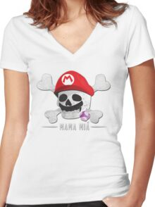 Mama Mia Women's Fitted V-Neck T-Shirt