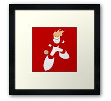 Project Silhouette 2.0: Fireman Framed Print
