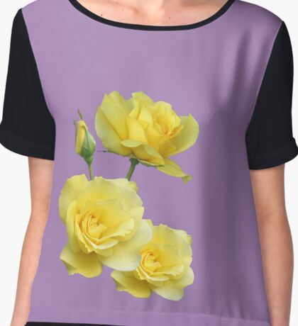 Yellow Rose Group Chiffon Top