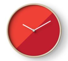 Two Tone in Red Clock