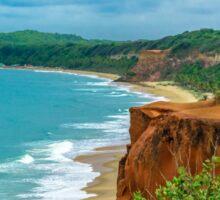 Aerial Landscape Scene Pipa Beach, Brazil Sticker