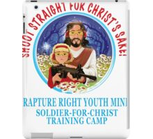 Shoot Straight for Christ's Sake! iPad Case/Skin