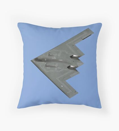 Northrop Grumman B-2A Spirit 82-1069/WM stealth bomber Throw Pillow