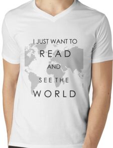 Read and See the World Mens V-Neck T-Shirt